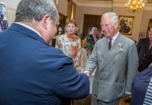 Prime Cymru Awards 2017 - held at the Crag-Y-Nos Castle near Ystradgynlais in Powys. HRH The Prince of Wales, Founder & President of PRIME Cymru attends the charity's annual awards.